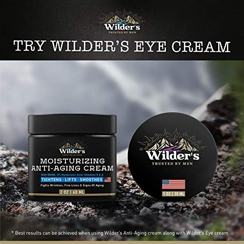 Men's Face Cream Moisturizer - Anti Aging Facial Skin Care - Made in USA - Collagen, Retinol, Hyaluronic Acid - Day & Night - Anti Wrinkle Lotion 2 oz.