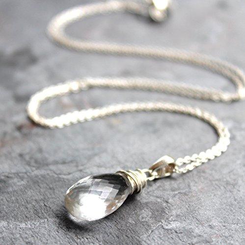Quartz Briolette Necklace - 5