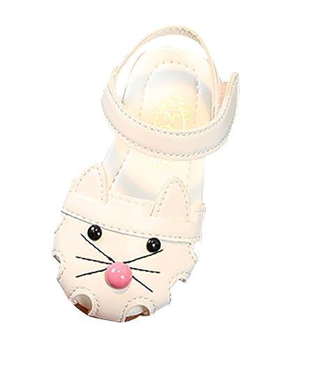 Sandali per Bambina, Scarpe Eleganti Piatto Scarpe Principessa RoseEtichetta 21/Scarpe Lunghezza 135mm
