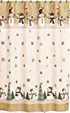 Snowman Shower Curtain Winter Wonderland Heartland Snowman Shower Curtain & Hook Set