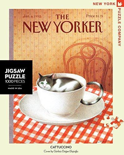 New York Puzzle Company - New Yorker - Cattuccino - Yorker 1000 Piece Jigsaw Puzzle by New York Puzzle Company 1c2ea2