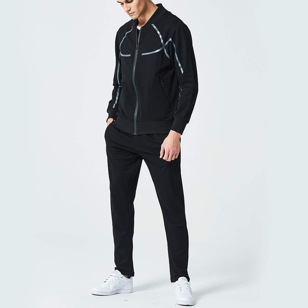 Mens Tracksuit Autumn Winter Casual Button Sweatshirt Top Pants Sets Sport Suit Teresamoon