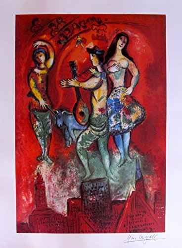 Wall Art by Marc Chagall Carmen Limited Edition Facsimile Signed Lithograph Print. After the Original Painting or Drawing. Paper 29 Inches X 22-1/2 Inches ()
