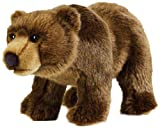 National Geographic Stuffed Animals Hand Puppet (1 Piece), Medium, Grizzly Bear