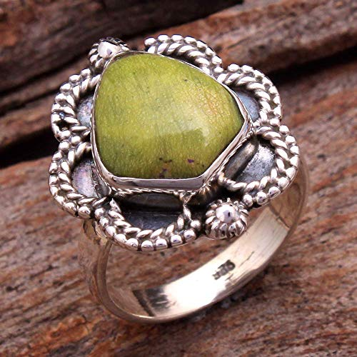 Mother's Day Special Gaspeite Pear Gemstone Ring 925 Sterling Silver Solid Ring US Size 6.75 Designer Wedding Ring Women Ring Silver Jewelry