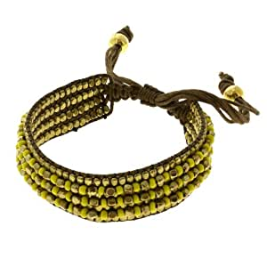 Joyería De Moda Amarilla Pulsera De Cuentas De Oro Artesanal Indio
