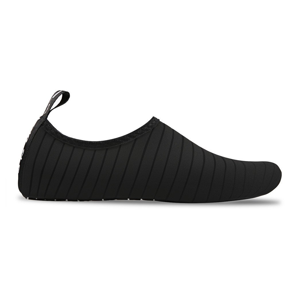 Womens and Mens Water Shoes Barefoot Quick-Dry Aqua Socks for Beach Swim Surf Yoga Exercise (TW.Black, XXL) by WateLves (Image #3)