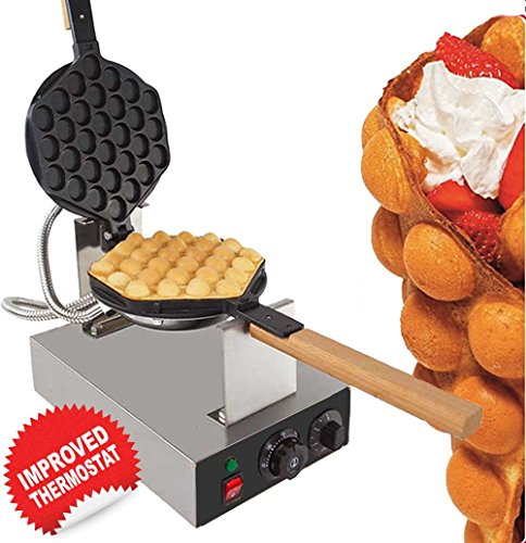 Egg Puffle Waffle Maker Professional Rotated Nonstick (Grill / Oven for Cooking Puff, Hong Kong Style, Egg, QQ, Muffin, Cake Eggettes and Belgian Bubble Waffles) (110V with US Plug) by ALD Kitchen