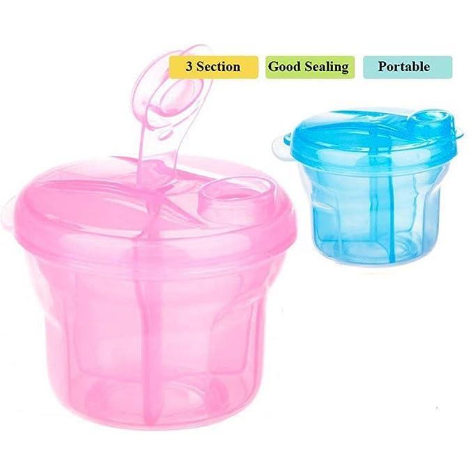Tianzhiyi Producto para beb/é F/órmula Dispenser BPA Free Milk Lowder Dispenser Snack Contenedor De Almacenamiento para Viajes Y Actividades Al Aire Libre