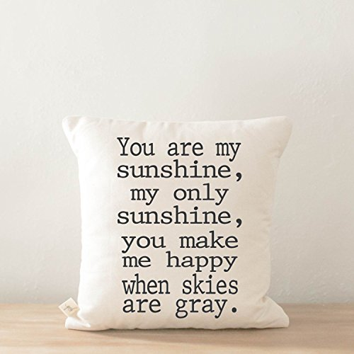 Pillow Cover - You Are My Sunshine, home decor, present, housewarming gift, cushion cover, throw pillow, cushion, pillow case