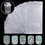 #7: Makartt Nail Art Stamp Stamping Templates Kit with 10 Pcs Manicure Plates 1 Stamper 1 Scraper for DIY & Salon Nail Art