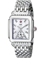 MICHELE Women's MWW06V000002 Deco 16 Analog Display Swiss Quartz Silver Watch