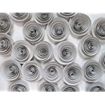 24-Grey-Paper-Flowers-Set-Gray-Wedding-Roses-Loose-Table-Decorations-Birthday-Party-Decor-Modern-Bridal-Shower-Floral-Centerpiece-15-Rosettes-For-Table-Runner