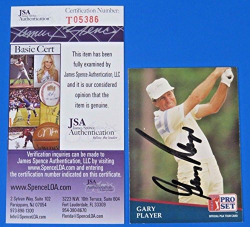 Gary Player Signed 1991 Pro Set Golf Card #194 ~ T05386 ~ - JSA Certified - Autographed Golf Cards