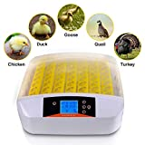 TECHTONGDA 110V Egg Incubator Hatcher Digital 56 eggs with built-in Candler & Automatic