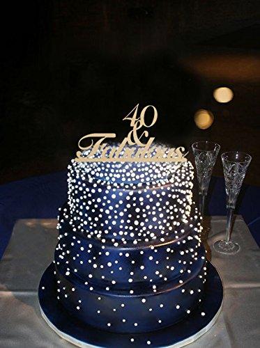 Outstanding 40 Fabulous Birthday Cake Topper Alternative Farbe Einzigartige Funny Birthday Cards Online Overcheapnameinfo