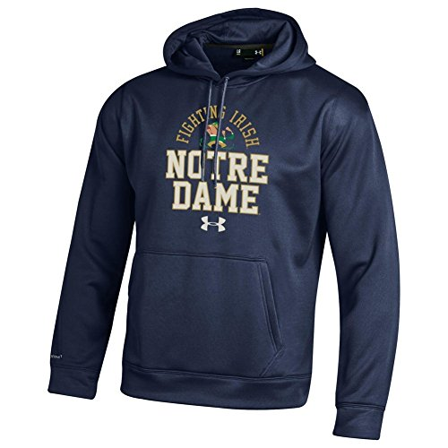 Notre Dame Fighting Irish Hoodie Sweatshirt Mascot - XL - Blue Fighting Irish Mascot