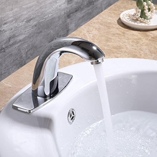 Charmingwater Automatic Sensor Touchless Bathroom Sink Faucet with on old kohler bathroom faucet, touchless faucet adapter, touchless faucet waterfall, touchless faucet bronze, delta single handle bathroom faucet, touchless toilets, touchless faucets parts, touchless lavatory faucet, touchless water faucets, long spout bathroom faucet, black bathroom faucet, auto sink faucet, touchless prep faucet, kitchen sink faucet, cold water sink faucet, touchless bathroom fixtures, aqua source bathroom faucet, touchless faucet commercial, automatic sink faucet, motion sensor sink faucet,
