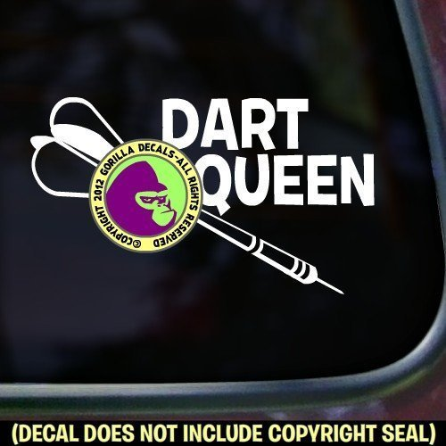 Darts - DART QUEEN Vinyl Decal Sticker A (Skittles Player)