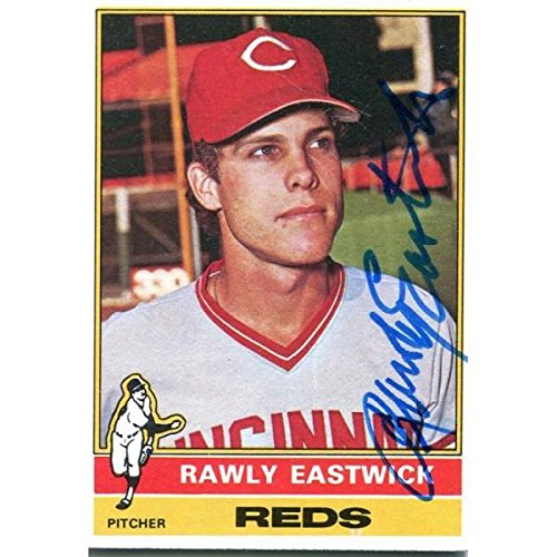 Rawly Eastwick Autographed 1976 Topps Card - Autographed Baseball Cards ()