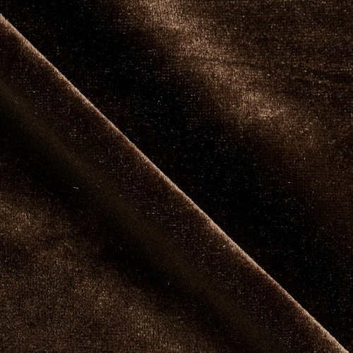 Stretch Velvet Knit Brown Fabric By The - Brown Knit Fabric