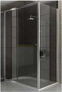 EchtGlas - Cabina de ducha (120 X 90 X 190 cm), diseño de cristal: Amazon.es: Hogar