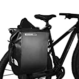 Roswheel 20L Waterproof PVC Saddle Panniers Bag Cycling Bicycle Bike Rear Rack Tail Seat Bag Pannier Single Side,Carrying Handle with Shoulder Strap