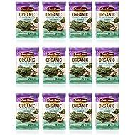 Annie Chun's Organic Seaweed Snacks, Sea Salt, 0.16 oz (Pack of 12)