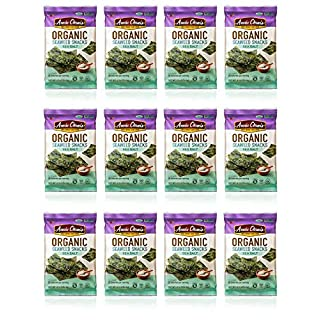 Annie Chun's Organic Seaweed Snacks, Sea Salt, 0.16 oz (Pack of 12)