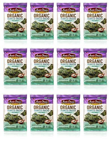 (Annie Chun's Organic Seaweed Snacks, Sea Salt, 0.16 oz (Pack of 12), America's #1 Selling Seaweed Snacks)
