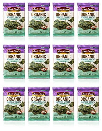 Annie Chun's Organic Seaweed Snacks, Sea Salt, 0.16 oz (Pack of 12), America's #1 Selling Seaweed Snacks ()