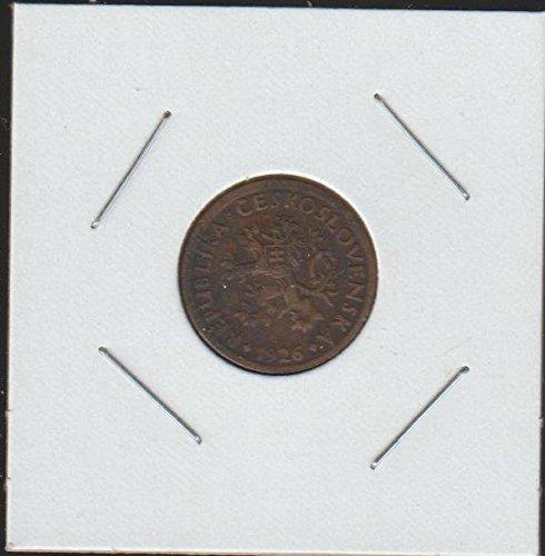 1926 CZ Czech Lion with Slovak Shield 10 Haleru Choice About Uncirculated (Silver Czech Coin)