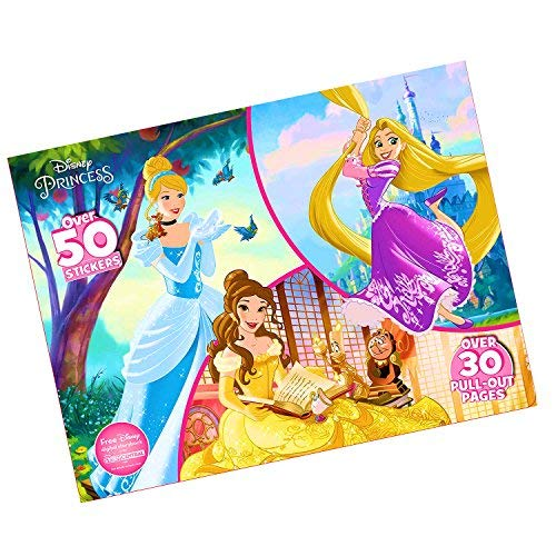 - Disney Favorite Characters Coloring Books for Kids - Jumbo Poster Sized Coloring Book with Stickers (Disney Princess Floor Pad)