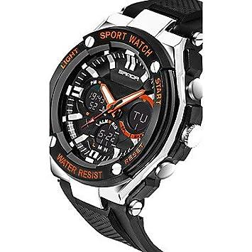 XKC-watches Relojes para Hombres, Sanda Hombre Reloj de Pulsera Reloj Elegante Reloj Militar Reloj de Moda Reloj Deportivo Digital Cuarzo Japonés Cronógrafo ...