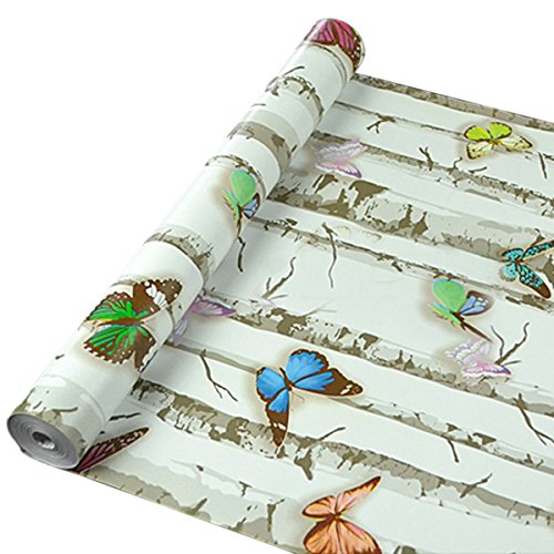 UNIQUEBELLA Colorful Butterfly Decorative Wallpaper