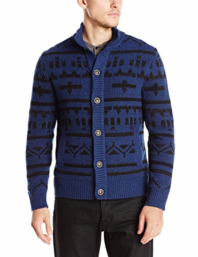 Lucky Brand Men's Glacier Pass Button Mock, Navy Combo, L by Lucky Brand