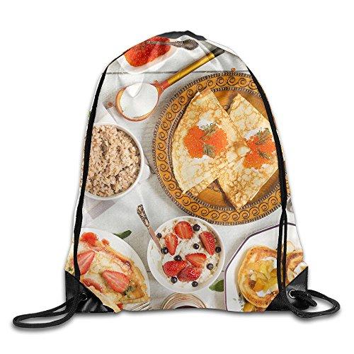 Russian Breakfast Fashion Drawstring Backpack Sport Sackpack For Men & Women School Travel Bag