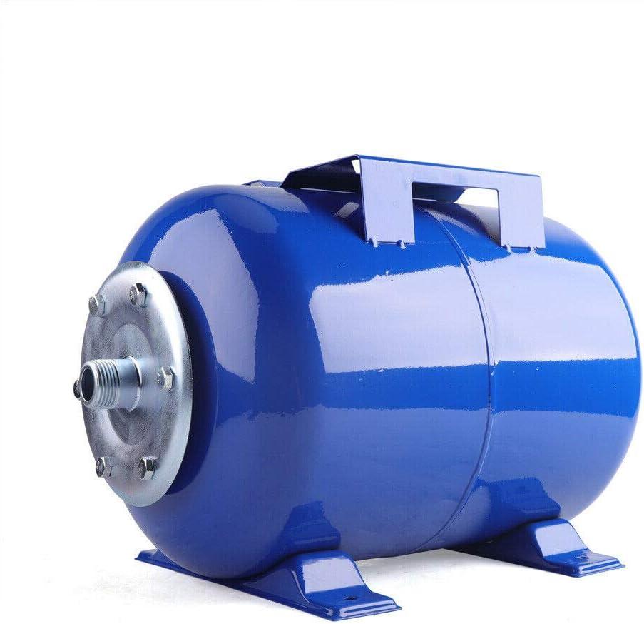 Caldera a presión de acero al carbono, 24 L, recipiente horizontal, 6 bares, caldera de membrana, bomba de agua doméstica