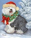 Old English Sheepdog Christmas%2DLF