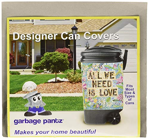 Garbage Pantz GP Need is Love Trash Can Cover, 45 Gallon, Multicolor