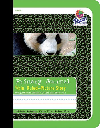 Pacon Primary Journal, 5/8 inch Ruling, 9-3/4 x 7-1/2, 100 Sheets