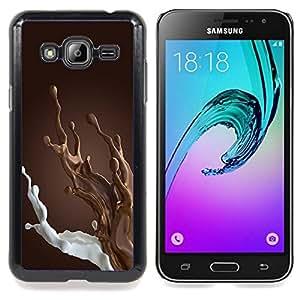 Eason Shop / Premium SLIM PC / Aliminium Casa Carcasa Funda Case Bandera Cover - Leche Desayuno Dulce - For Samsung Galaxy J3 GSM-J300