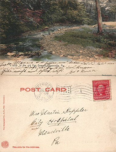 GREENVILLE PA OLD FAIR GROUND 1908 UNDIVIDED ANTIQUE - Postcards Postcard Antique