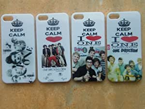 Wholesale 4pc Keep Calm Unique Super Star One Direction 1d Hard Case Protective Cover for Apple Iphone 5 5th 5g-i54p01