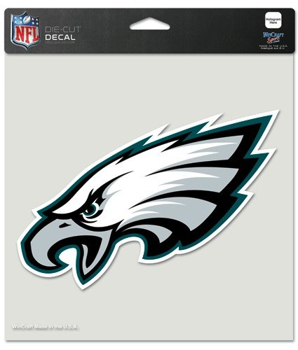 Wincraft NFL Philadelphia Eagles Die-Cut Color Decal, 8