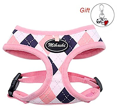 Diamond Harness for Dogs Comfort Soft Mesh Adjustable Pet Padded Vest for Puppies Walking