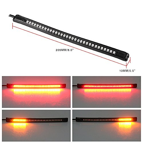 Motorcycle Light Strip, Prime Autobots 32 SMD LED Flexible Turn Signal Brake Strip Light and Tail Light (ADP32)