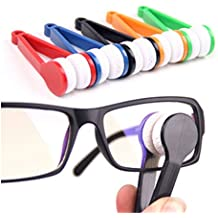 10 Pcs Mini Sun Glasses Eyeglass Microfiber Spectacles Cleaner Soft Brush Cleaning Tool Mini Microfiber Glasses Eyeglasses Cleaner Cleaning Clip (Random Color)