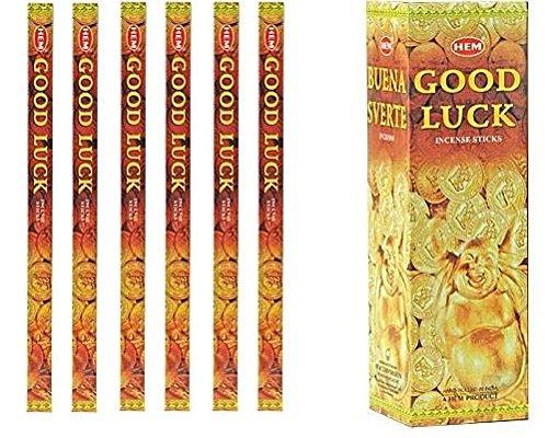 人気商品の インドHem 6パックX Good Luck Incense 6パックX 8 8スティック、Wicca B00MLEZCP6 Pagan 8 Grm正方形ボックス B00MLEZCP6, タイルカンパニー:f563bc52 --- arianechie.dominiotemporario.com