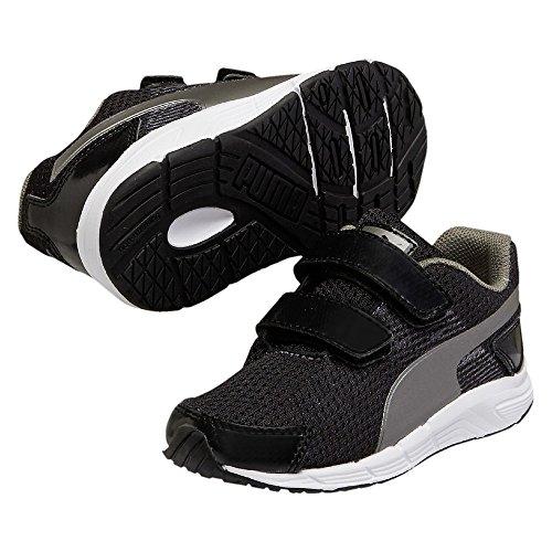 Puma Sequence V kids - Zapatillas de Piel para niño Negro negro